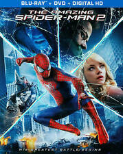 The Amazing Spider-Man 2 (Blu-ray/DVD) 2014, 2-Disc Set. (has movie code inside)