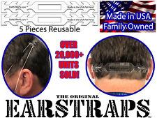 Earstrap Face Mask Extension 5-Pack Transparent PETG earstraps PPE Ear Saver