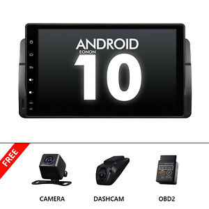 """CAM+DVR+OBD+For BMW E46 320/325 9""""GPS Android 10 Car IPS Radio Navigation Stereo"""