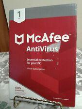McAfee Antivirus - 1 Year - 1 Device