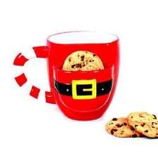 DEI Ceramic Santa's Cookie Mug with Cookie Pocket