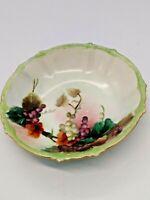 Antique Rosenthal SELB Bavaria Fruit/Soup/Salad Bowl - Hand Painted Grapes