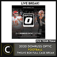 2020 PANINI DONRUSS OPTIC FOOTBALL 12 BOX FULL CASE BREAK #F621 - PICK YOUR TEAM
