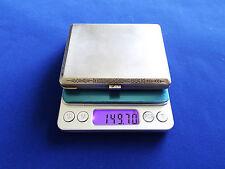RUNIC DESIGN ANTIQUE ESTONIAN SILVER 875 CIGARETTE CASE BOX GILDED 149GR !!!