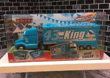 ��DISNEY PIXAR CARS GRAY HAULER TRAILER #43 DINOCO THE KING RACE O RAMA��