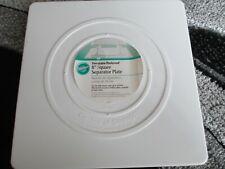 """2 Wilton Cake Separator Plates, 8"""" Square, 7"""" Circle"""