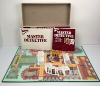 Clue Master Detective Board Game Parker Brothers 1988 Incomplete