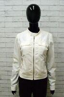 Giacca DIESEL Donna Taglia Size S Jacket Woman Giubbotto Jacket Elastico Bianco