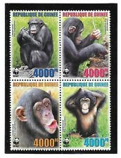 GUINEA - NH SET-SOUVENIR SHEETS-MINISHEETS of 2006 - WWF - ANIMALS - MONKEYS