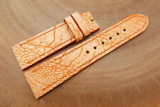 22mm/20mm Light Orange Genuine OSTRICH Leather Watch Strap Band