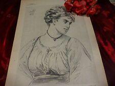 signée 1873  lithographie l italienne  planch 5    superbe crayonnage encadrer,?