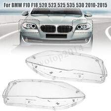 2x Headlight Lamp Cover Clear Len For BMW F10 F18 520 523 525 535 530 2010-2014