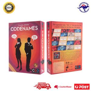 Codenames Card Deduction Pictures Party Board Word Card Game Geek Game Winner AU