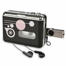 Convertidor y Reproductor de Cinta casetes,Audio Cassette a MP3 Digital en USB