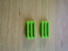 LEGO 4537921+2412b TILE,MODIFIED 1X2 GRILLE WITH BOTTOM GROOVE/LIP COLOR LIME