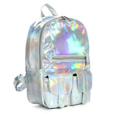 Silver Hologram Lase r School bag Harajuku Preppy Stylish Students Backpack