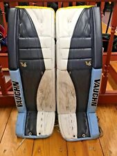Vaughn Velocity V6 2300 Pro Used Ice Hockey Goalie/ Goal Leg Pads 37+1 PRO STOCK