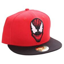 MARVEL COMICS - THE AMAZING SPIDER-MAN - CARNAGE FACE RED SNAPBACK CAP (NEW)