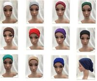 Women Ladies Under Scarf Hijab TUBE Bonnet BONE Cap MANY Colours Stretchable New