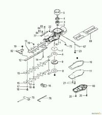 More details for genuine tanaka/hitachi 6688909 gear case gasket 303-33160-20