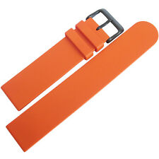 22mm Bonetto Cinturini 270 Orange PVD BUCKLE Mens Rubber Dive Watch Band Strap