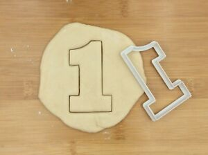 Number one Digit 1 Cookie Cutter Biscuit Fondant Cake Mould | Large 8 cm High