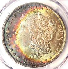 1881-O Toned Morgan Silver Dollar $1 - Certified PCGS MS64 - Nice Rainbow Toning