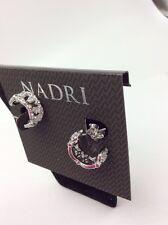 $60 Nadri NADRI Cubic Zirconia Huggie Hoop Earrings #255