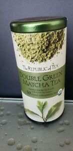 TEA DOUBLE GREEN MATCHA, Republic of Tea 50 bags ORGANIC GREEN JAPANESE MATCHA