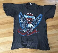 Vintage 1970s Harley Davidson Live To Ride Ride To Live T Shirt Thin Hog Eagle S