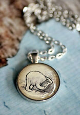 Winnie the Pooh and His Honey Pot. Silver or bronze necklace. Vintage Pooh.