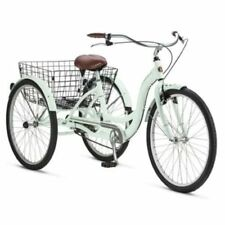 Adult Schwinn Tricycle Three 3 Wheeled Trike Mens Womens Bicycle Red Mint Green