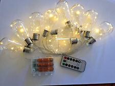 10 Bulb 40LED E27 Bottle Style 2m lg AA Battery String Light+Remote+Timer+8 mode