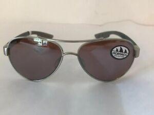 COSTA DEL MAR Loreto Ocearch Aviator Sunglasses Silver w/Mirror 580P Lens NWT
