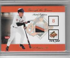 CAL RIPKEN JR. 2002 FLEER THROUGH THE YEARS 3 COLOR PATCH #9/100 -ORIOLES