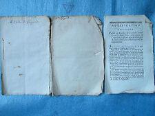 QUERIAU : NOTIFICATA à l'évêque de Clermont / Hérésie, démon, 1789. 3 plaquettes