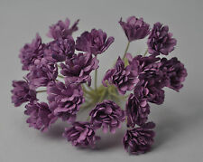 100 LILAC VIOLET GYPSOPHILA miniature Mulberry Paper Flowers for wedding craft