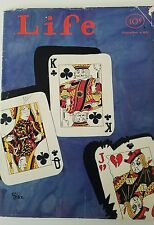 1931 Life Magazine front cover only Jack queen king playing cards as is