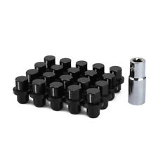 20x Black Alloy Wheel Nuts M14X1.5 45mm Mag Washer Seat w/Key Fit for Land Rover