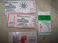 """Lot of 4"" 1984-1986 Basketball Ticket Stubs"