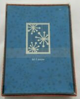 "Punch Studio ""Let it Snow"" Silver Foil Holiday Cards Box of 20"