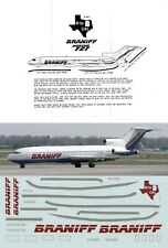BIG D CAL DECALS 1/144 Boeing 727 (Braniff)
