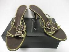 Giuseppe Zanotti bronze metallic embellished mule sandals sz 40/ 10