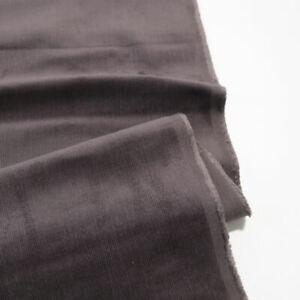 4m Grau braun Mikro CORD elastischer Baumwollstoff für Hose Jacke Rock Cordstoff