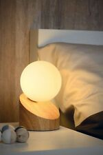 Moderne Tischleuchte Nachttischlampe Touch Schalter Holzoptik eiche natur