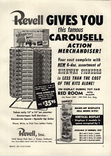 1954 PAPER AD Revell Store Display Scale Model Revolving Stand Rack Cars Autos