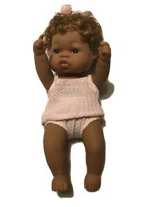 "AFRICAN AMERICAN FULL VINYL 13"" DOLL ANATOMICALLY CORRECT BATH PLAY"