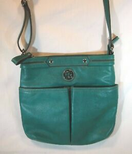 RELIC Medium Crossbody HANDBAG Purse - Kelly Green Faux Leather Shoulder Bag