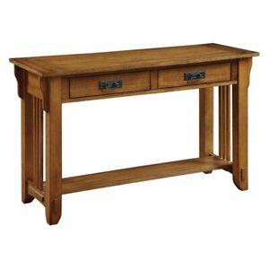 Coaster Traditional Colton Sofa Table in Oak Finish