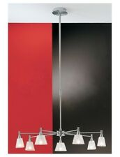 280w 7 Arm / Way Brushed Satin Chrome Modern Ceiling Pendant Light 7 x 40w G9